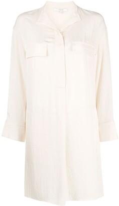 Vince Long-Sleeved Concealed Placket Shirt