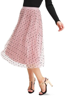 Belle & Bloom Mixed Feelings Pink Reversible Skirt Pink