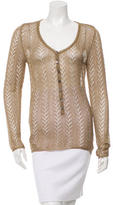 Dolce & Gabbana Open Knit Metallic Top