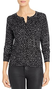 Daniel Rainn Dot Print Button Front Cardigan
