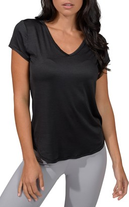 90 Degree By Reflex Heather V-Neck T-Shirt