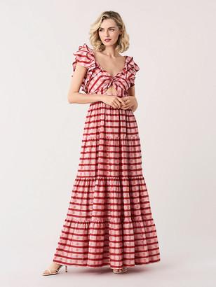 Diane von Furstenberg Shea Cotton-Blend Gown