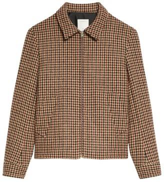 Sandro Paris Wool Check Jacket