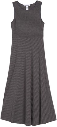 Cotton Emporium Sleeveless Ribbed Knit Maxi Dress