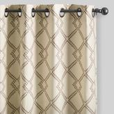 Mocha Brown Lattice Cotton Curtains Set of 2