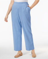 Alfred Dunner Plus Size Long Weekend Collection Pull-On Knit Pants