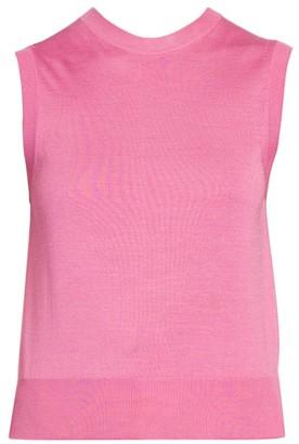 Dolce & Gabbana Sleeveless Silk Knit Shell Top