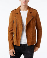 GUESS Men's Heavy Suede Biker Jacket