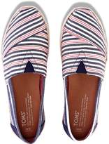 Toms Classics Navy Red Stripe Rope Sole 10008020 Womens 6