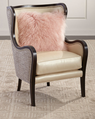 Massoud Jacqueline Leather Wing Chair
