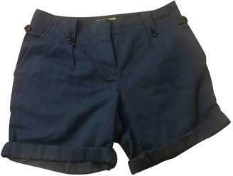 Burberry Navy Cotton Shorts
