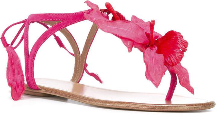 Aquazzura Flower t-bar sandals