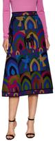 Valentino Intarsia High-Waisted Midi Skirt