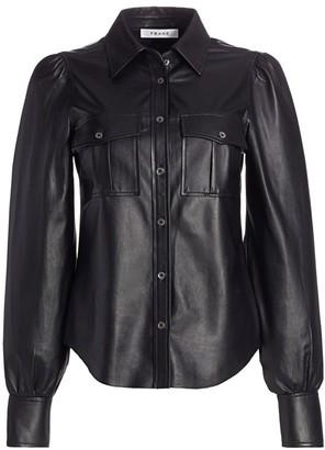 Frame Fem Leather Military Shirt