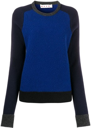 Marni Two-Tone Ribbed Crew Neck Jumper