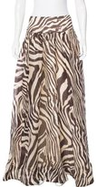 Roberto Cavalli Silk Maxi Skirt
