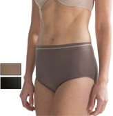 Ellen Tracy Seamless Tipped Panties - Full Briefs, 3-Pack (For Women)