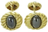 Tiffany & Co. 18K Yellow Gold & Hematite Cufflinks