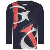 John Galliano John GallianoBoys Navy Long Sleeve Logo Top