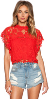 Tularosa Clayton Top in Red. - size XS (also in )