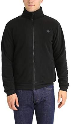 Lower East Men's Fleece Jacket with stand-up collar