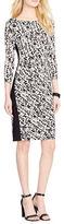 Lauren Ralph Lauren Abstract Printed Jersey Dress