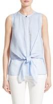 Lafayette 148 New York Women's Jennine Tie Front Blouse