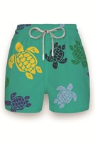 Vilebrequin Boy's 'Multicolor Turtles' Print Swim Trunks