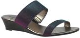 Bos. & Co. Black Sparkle Stretch Sandal