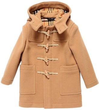 Burberry Hooded Wool Felt Duffle Coat