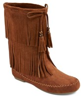 Women's Kaylee Fringe Moccasin Boots - Mossimo Supply Co.