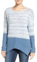 Women's Caslon Colorblock Marl Knit Sweater