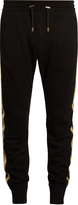 Balmain Stripe-detail wool-blend knit track pants