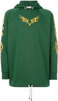 Palm Angels printed hoodie - men - Cotton/Spandex/Elastane - S