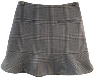Ganni Blue Wool Skirt for Women