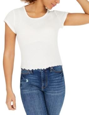Self Esteem Juniors' Lace-Trim T-Shirt