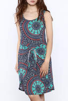 Tribal Boho Mix Print Dress