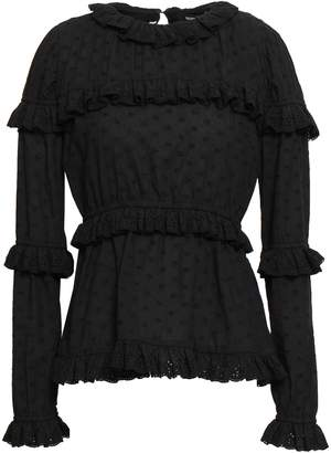 GOEN.J Tiered Broderie Anglaise Cotton-voile Blouse