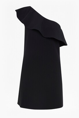 French Connection Whisper Ruth One Shoulder Ruffle Dress