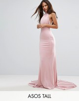 City Goddess Tall Maxi Dress With Open Back