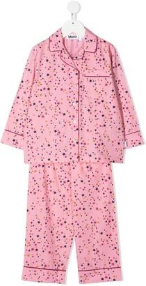 Molo Kids All-Over Star Print Pyjama Set