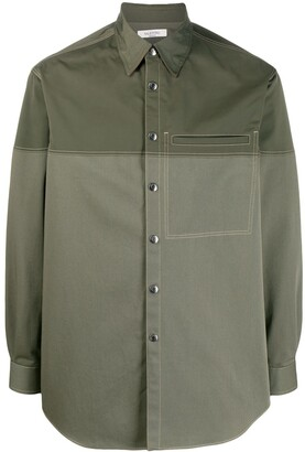 Valentino Two-Tone Buttoned Shirt