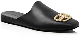 Balenciaga Women's Flat Cosy Bb Mule Slide Sandals
