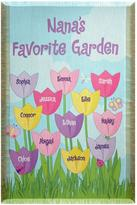 Personal Creations Personalized Tulip Garden Throw