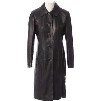 Loewe Black Leather Coat for Women