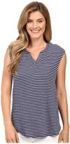 Calvin Klein Jeans Short Sleeve Striped Henley