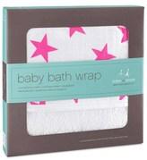 Aden Anais Aden + Anais Pink Star Print Baby Bath Wrap