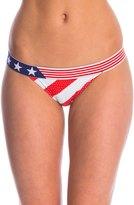 Fox Swimwear Red, White And True Banded Bikini Bottom 8145885