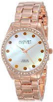 August Steiner Women's AS8072RG Quartz Mother-of-Pearl Rose-tone Bracelet Watch