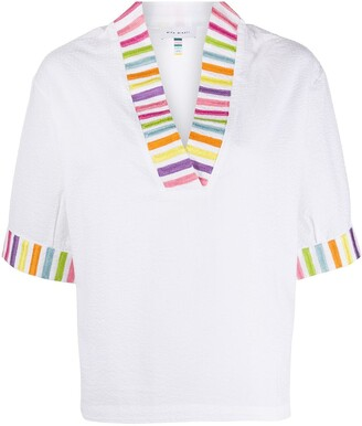 Mira Mikati Rainbow Stripe Shirt